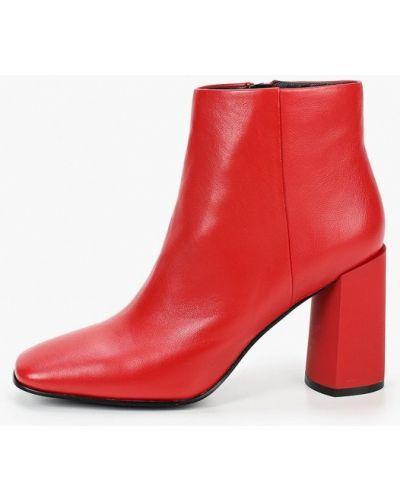 Кожаные красные ботильоны Graciana