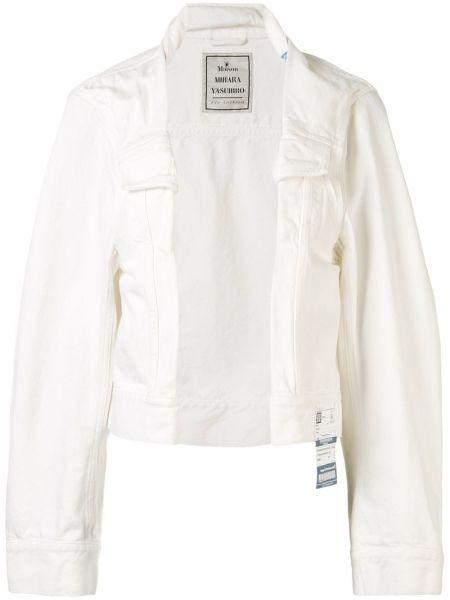 Асимметричная хлопковая белая джинсовая куртка Maison Mihara Yasuhiro