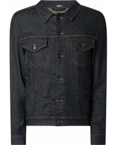 Niebieski bawełna kurtka jeansowa z kołnierzem Boss