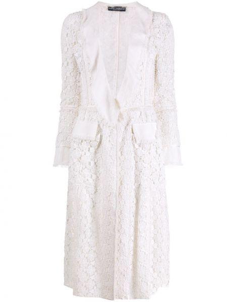 Белая прямая ажурная куртка винтажная Dolce & Gabbana Pre-owned