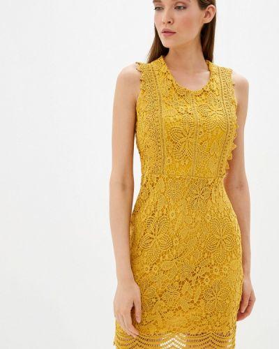 Вечернее платье осеннее желтый By Swan