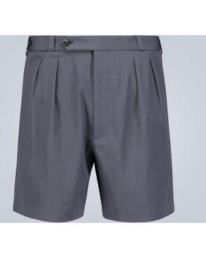 Niebieskie krótkie szorty bawełniane Rochas