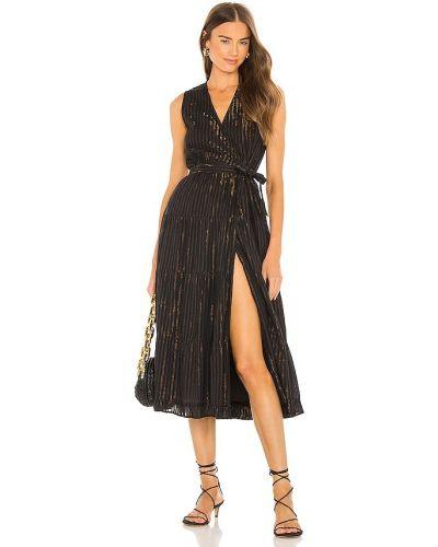 Платье с запахом - черное Karina Grimaldi