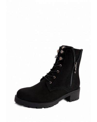 Ботинки на каблуке осенние из нубука Frivoli