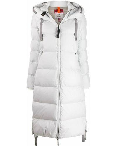 Пуховое коралловое длинное пальто с капюшоном Parajumpers