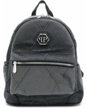 Czarny plecak skórzany Philipp Plein