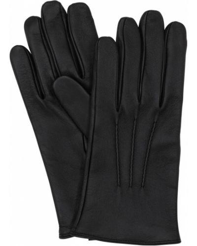 Czarne rękawiczki skorzane Mario Portolano