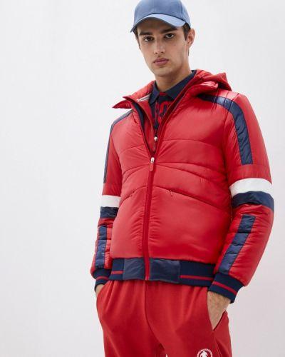 Красная зимняя куртка Bikkembergs