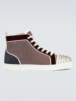 Białe buty sportowe skorzane Christian Louboutin
