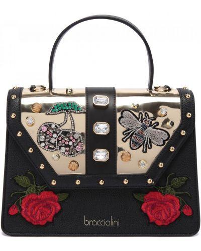 Комбинированная кожаная сумка Braccialini