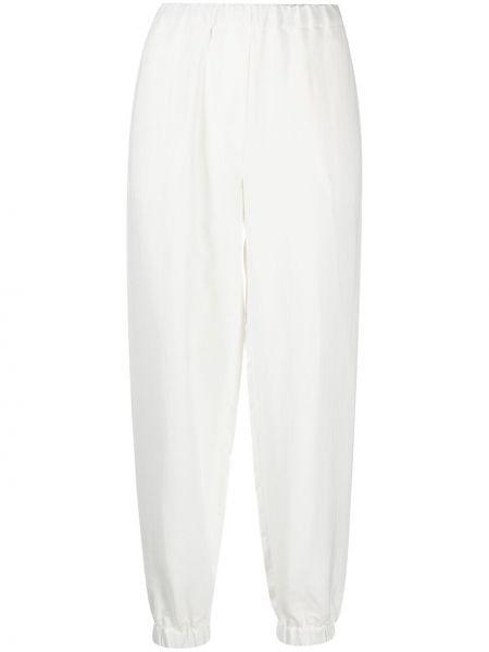 Белые зауженные брюки с поясом Antonelli