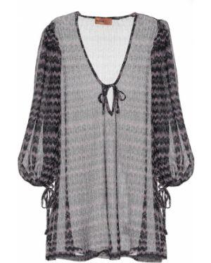 Летнее платье из штапеля вязаное Missoni Mare
