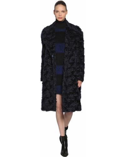 Синее пальто с карманами с лацканами Sportmax