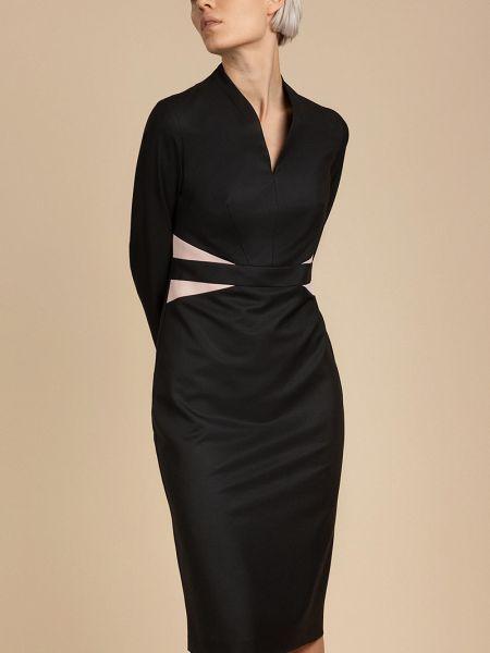 Деловое платье футляр со вставками Vassa&co