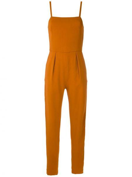 Оранжевый комбинезон на молнии с карманами Andrea Marques