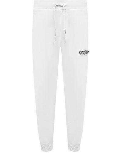 Хлопковые белые брюки Comme Des Fuckdown