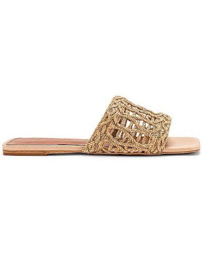 Sandały skorzane na obcasie Raye