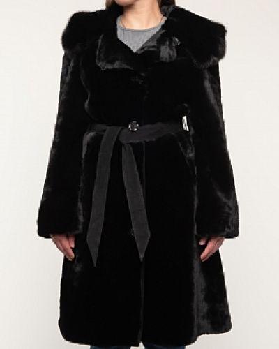 Пальто из овчины - черное Panofics