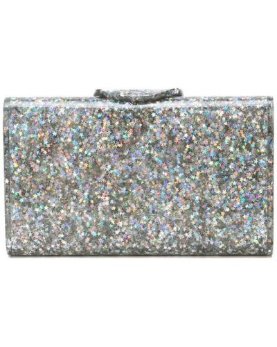 Серебряная сумка Edie Parker