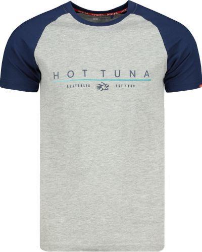 Prążkowany t-shirt bawełniany bezszwowy Hot Tuna
