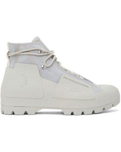 Koronkowa wysoki sneakersy okrągły na pięcie zasznurować A-cold-wall*