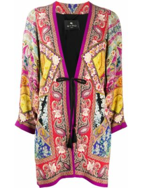 Kimono jedwab z rękawami Etro