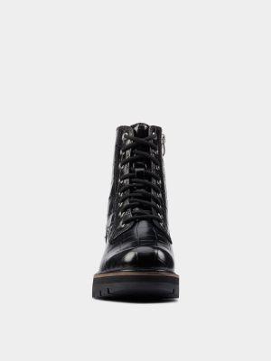 Ботильоны на каблуке - черные Clarks