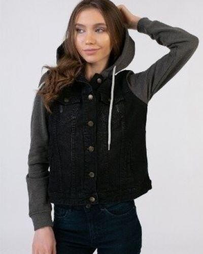 Джинсовая куртка с капюшоном - черная Esmara
