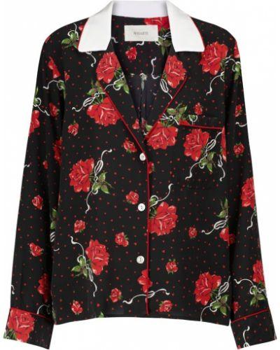 Czarna bluzka w kwiaty Rodarte