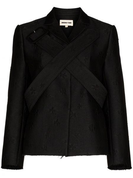 Куртка черная жаккардовый Shushu/tong