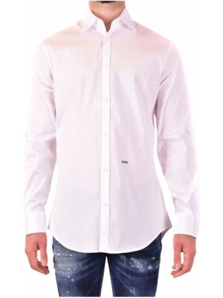 Biała koszula z długimi rękawami Dsquared2