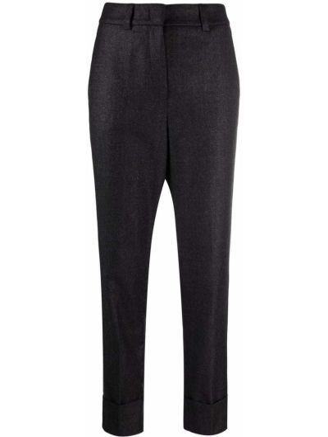 Серые брюки с завышенной талией Peserico