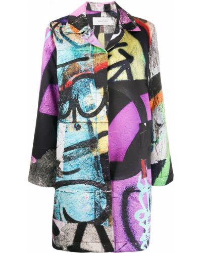 Коралловое длинное пальто с воротником Marques'almeida
