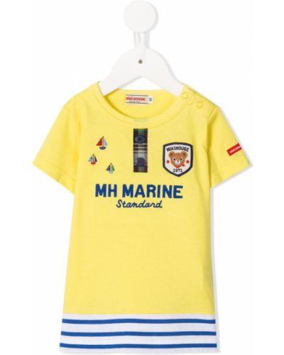 Футболка футбольный желтый Miki House