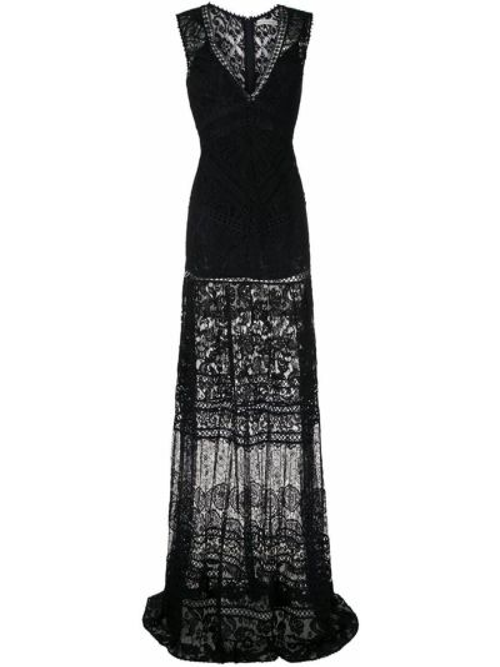 Черное платье прозрачное без рукавов Martha Medeiros