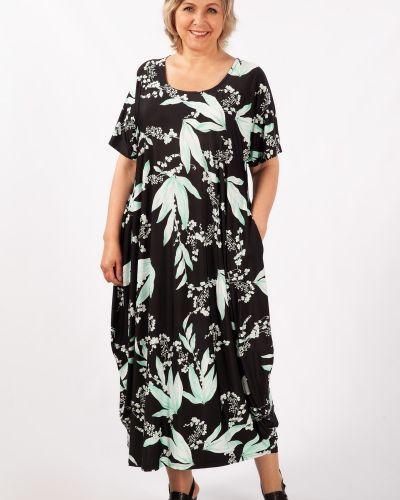 Летнее платье в стиле бохо с карманами свободного кроя с вырезом милада