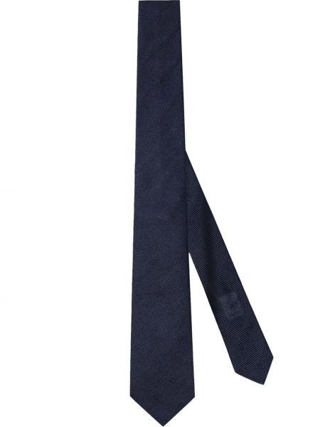 Jedwab krawat z haftem Gucci