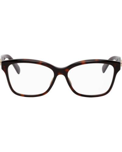 Złote fioletowe okulary Gucci
