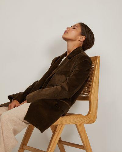 Коричневый пиджак двубортный вельветовый 12storeez
