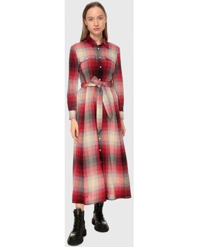 Красное платье-рубашка Polo Ralph Lauren
