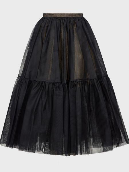 Шелковая юбка - черная Rochas