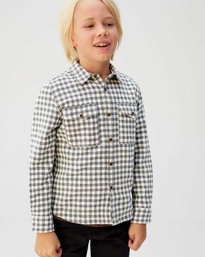 Koszula na przyciskach włókienniczy Mango Kids