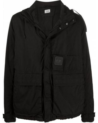 Bawełna z rękawami czarny płaszcz przeciwdeszczowy od płaszcza przeciwdeszczowego C.p. Company