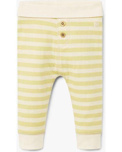 Белые брюки Mango Kids