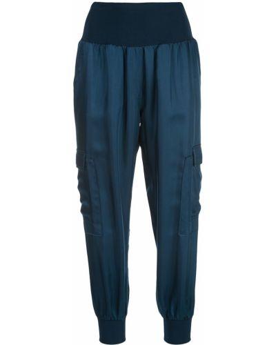 Синие брюки эластичные без застежки Cinq À Sept