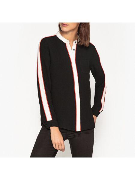 Рубашка с длинным рукавом в полоску без воротника Essentiel Antwerp