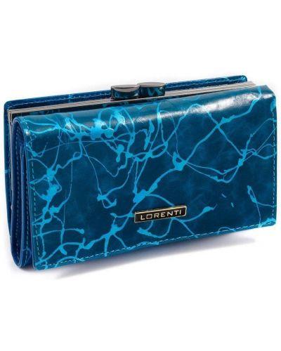 Niebieski portfel skórzany Lorenti