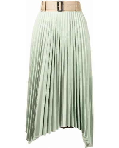 Ciepła zielona spódnica midi asymetryczna Andersson Bell
