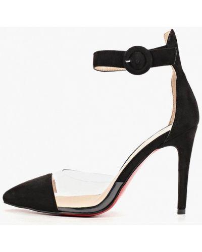 Туфли на каблуке черные замшевые Teetspace