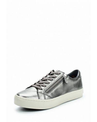 Низкие кеды серебряного цвета Tommy Hilfiger